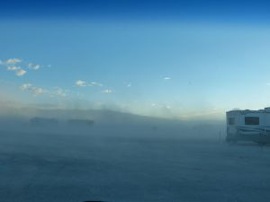 Sandstorm at Stovepipe Wells Campground