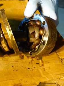 Worn CV bearings