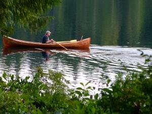 Trevor's handmade Maine Guide Boat